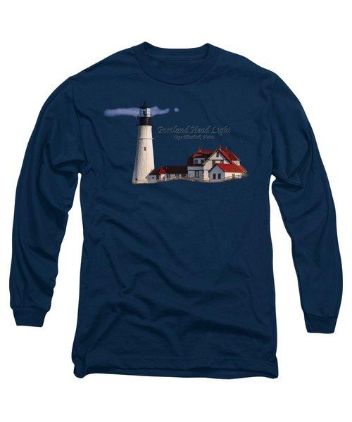 Portland Head Light No. 43 Long Sleeve T-Shirt by Mark Myhaver