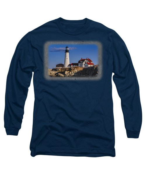 Portland Head Light No. 44 Long Sleeve T-Shirt by Mark Myhaver