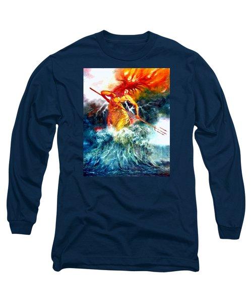 Poseidon Long Sleeve T-Shirt by Henryk Gorecki
