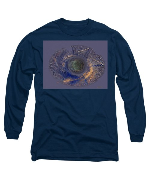 Long Sleeve T-Shirt featuring the painting Possible Asymmetric Big Bang 2 by David Klaboe