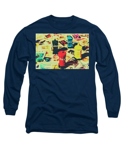 Postage Pop Art Long Sleeve T-Shirt