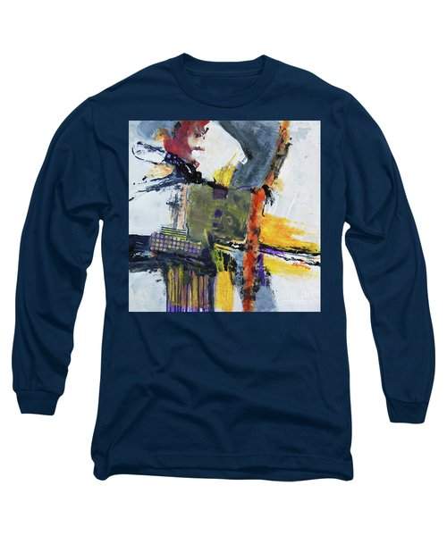Long Sleeve T-Shirt featuring the painting Precarious by Ron Stephens