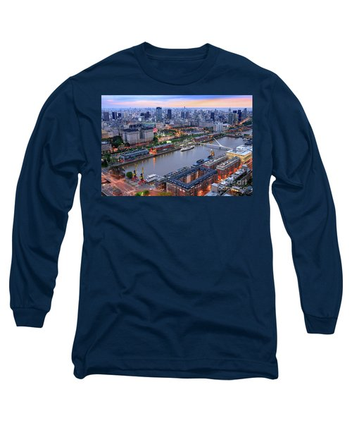 Puerto Madero Pier 3 Long Sleeve T-Shirt by Bernardo Galmarini