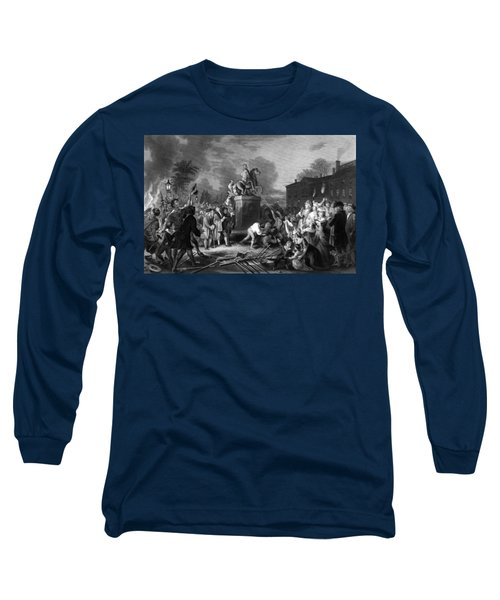 Pulling Down The Statue Of George IIi Long Sleeve T-Shirt
