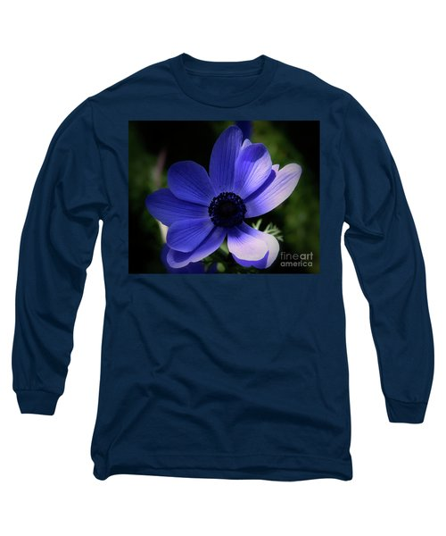 Long Sleeve T-Shirt featuring the photograph Purple Anemone by Stephen Melia
