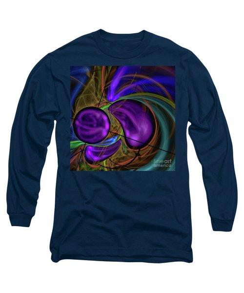 Long Sleeve T-Shirt featuring the digital art Purple Anyone by Deborah Benoit
