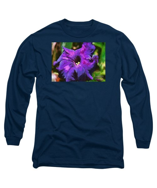 Long Sleeve T-Shirt featuring the painting Purple Color Of Royalty by Dragica  Micki Fortuna