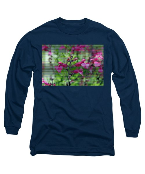 Purple Flower T-shirt Long Sleeve T-Shirt by Isam Awad
