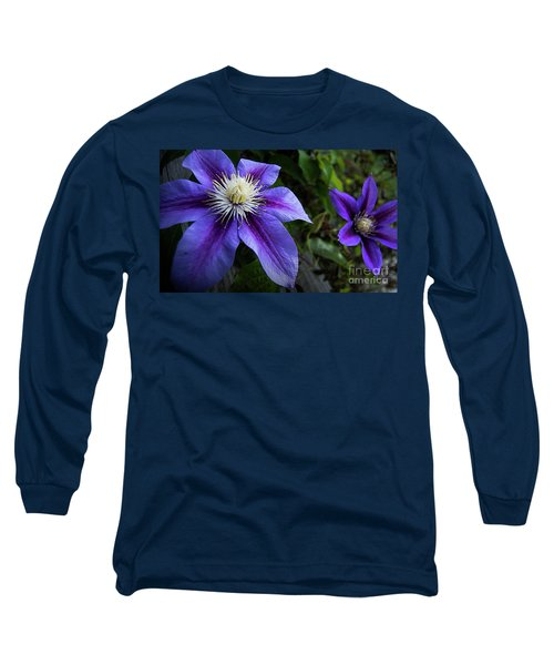 Long Sleeve T-Shirt featuring the photograph Purple Flowers by Brian Jones