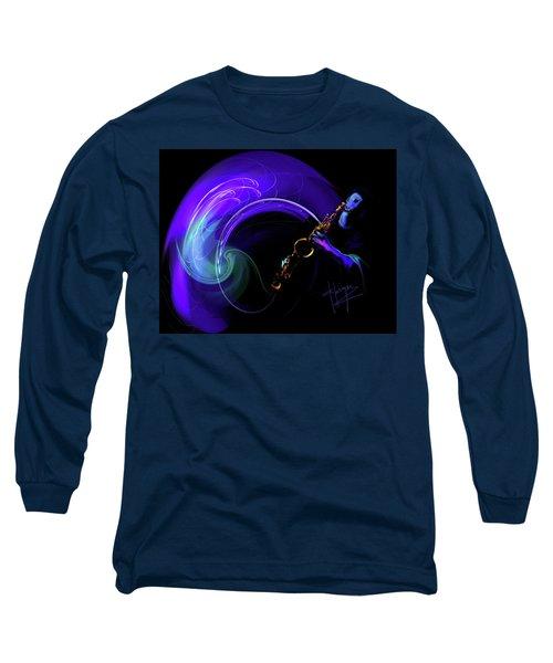 Purple Moon Long Sleeve T-Shirt by DC Langer