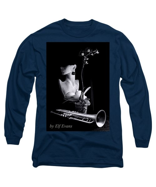 Long Sleeve T-Shirt featuring the photograph Purple Orchid by Elf Evans