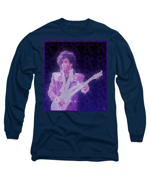 Purple Reign Long Sleeve T-Shirt by Kenneth Armand Johnson