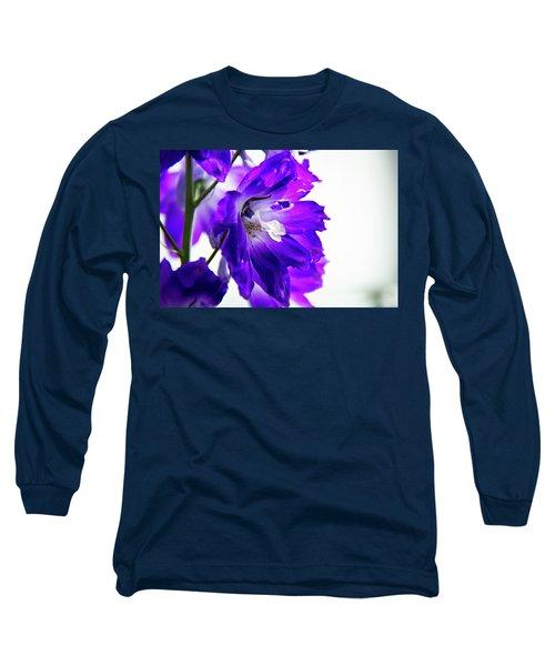 Purpled Long Sleeve T-Shirt by David Sutton