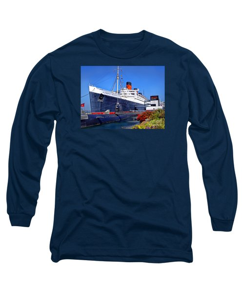Queen Mary Ship Long Sleeve T-Shirt by Mariola Bitner