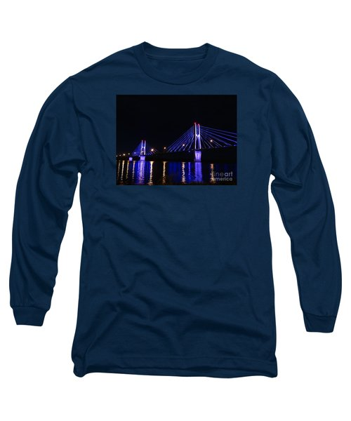 Quincy Bay View Light Reflection Long Sleeve T-Shirt by Justin Moore