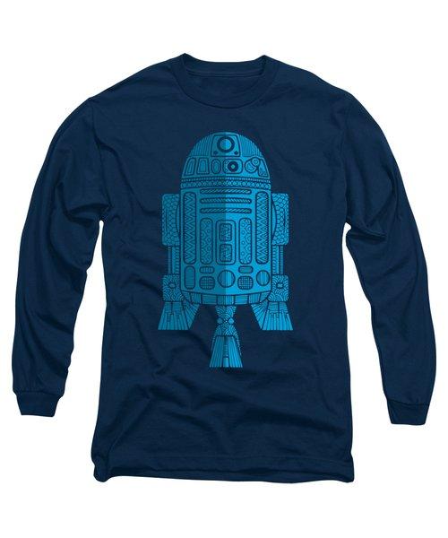 R2d2 - Star Wars Art - Blue 2 Long Sleeve T-Shirt