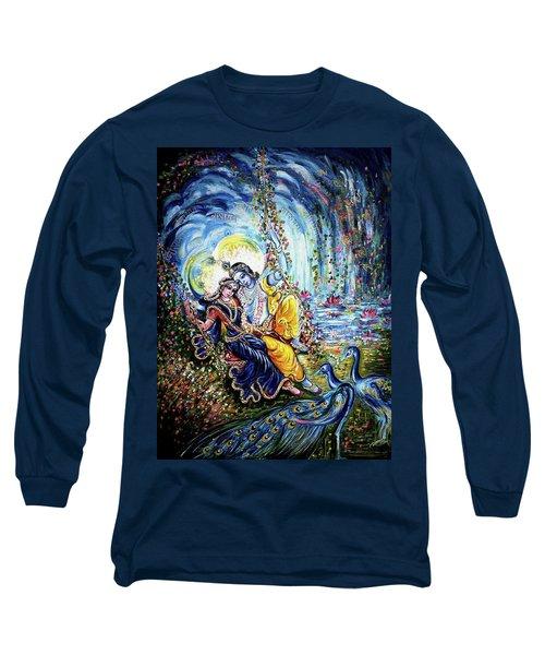 Radha Krishna Jhoola Leela Long Sleeve T-Shirt