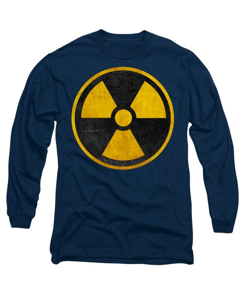 Vintage Distressed Nuclear War Fallout Shelter Sign Long Sleeve T-Shirt by Peter Gumaer Ogden Collection