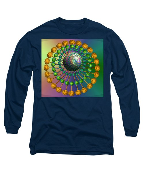 Rainbow Fractal Long Sleeve T-Shirt