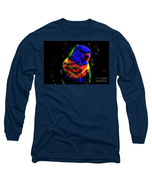 Rainbow Lorikeet - Fractal Long Sleeve T-Shirt
