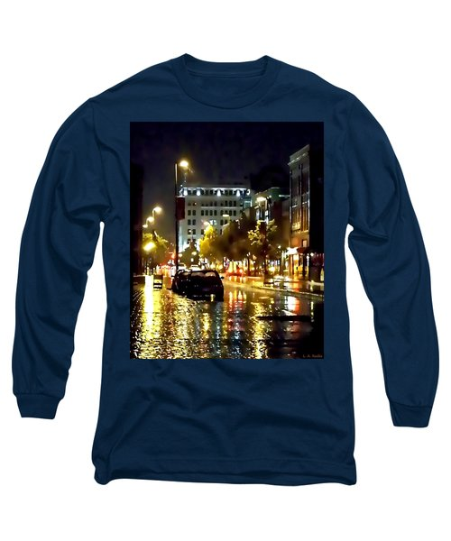 Rainy Night In Green Bay Long Sleeve T-Shirt
