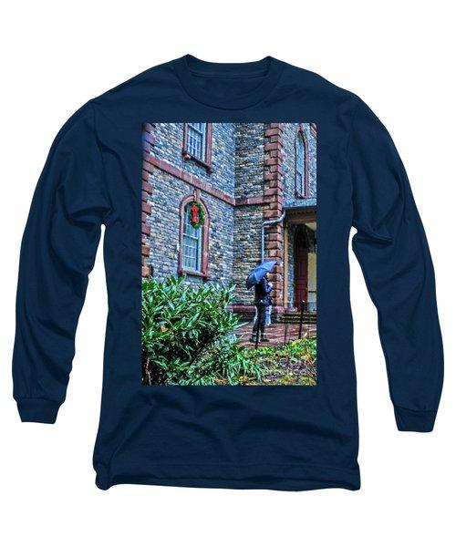 Rainy Sunday Long Sleeve T-Shirt by Sandy Moulder