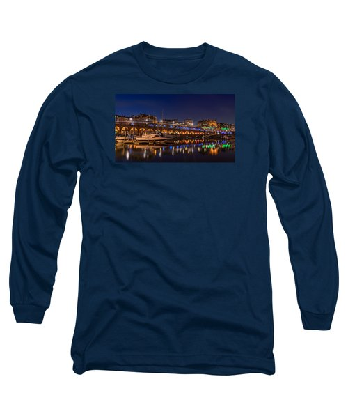 Ramsgate Marina At Night Long Sleeve T-Shirt