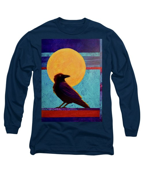 Raven Moon Long Sleeve T-Shirt by Nancy Jolley
