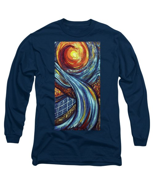 Long Sleeve T-Shirt featuring the painting Ray Of Hope 3 by Harsh Malik
