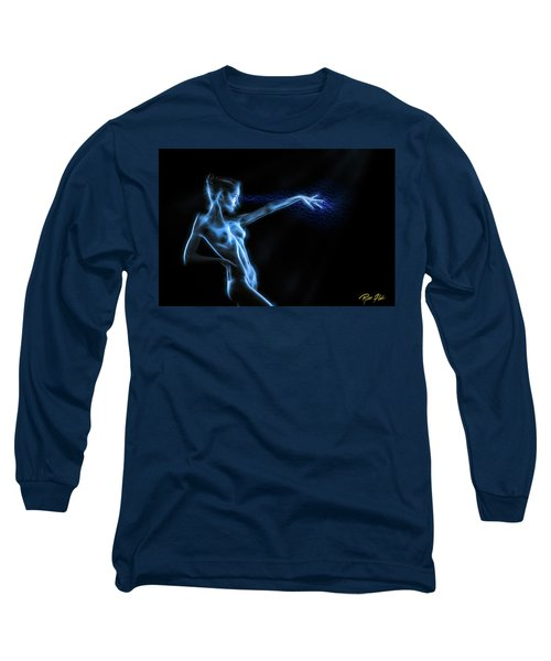 Long Sleeve T-Shirt featuring the photograph Reaching Figure Darkness by Rikk Flohr