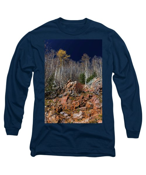Long Sleeve T-Shirt featuring the photograph Reaching Into Blue by Stephen Anderson