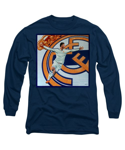 Real Madrid Painting Long Sleeve T-Shirt by Paul Meijering