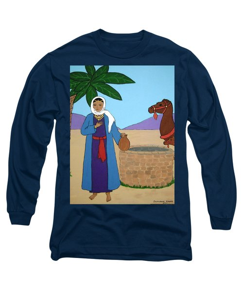 Long Sleeve T-Shirt featuring the painting Rebecca At The Well by Stephanie Moore