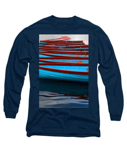Red And Blue Paddle Boats Long Sleeve T-Shirt