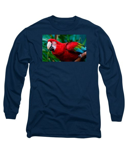 Red And Green Macaw Long Sleeve T-Shirt