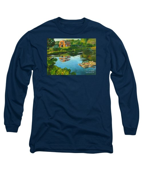 Red Barn In Kennebunkport Me Long Sleeve T-Shirt