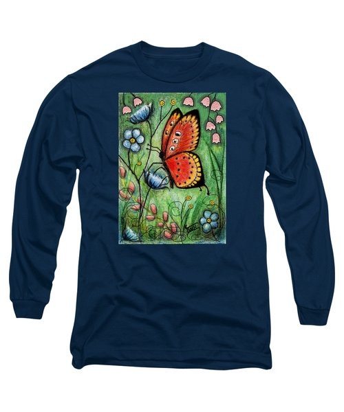 Red Butterfly Long Sleeve T-Shirt