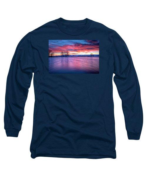 Red Dawn Long Sleeve T-Shirt by Fiskr Larsen