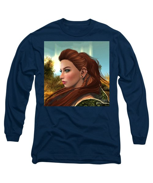 Red Hair Long Sleeve T-Shirt
