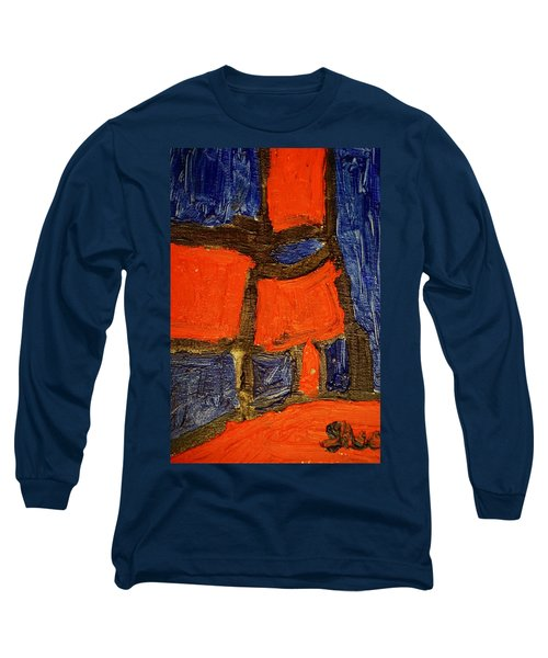 Red Lamps Long Sleeve T-Shirt by Shea Holliman