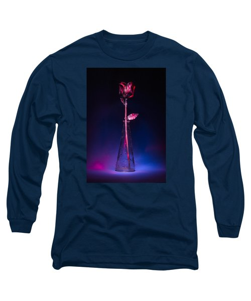 Red Metal Rose Long Sleeve T-Shirt