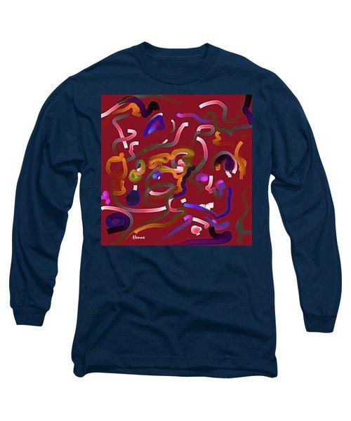 Red Musing Long Sleeve T-Shirt by Robert Henne