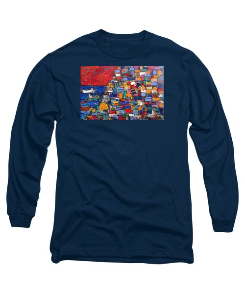 Red Positano Italy Long Sleeve T-Shirt