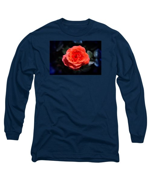 Red Rose Art Long Sleeve T-Shirt by Milena Ilieva