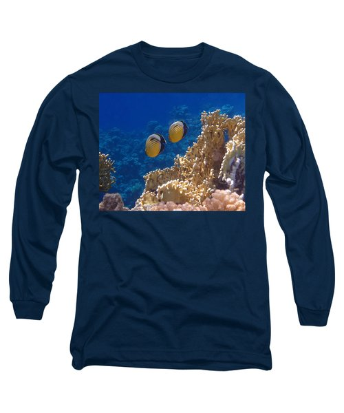 Red Sea Exquisite Butterflyfish  Long Sleeve T-Shirt