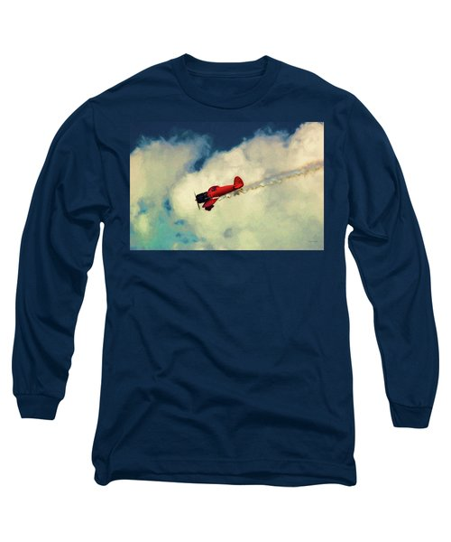 Red Sky Writer Long Sleeve T-Shirt by Trey Foerster