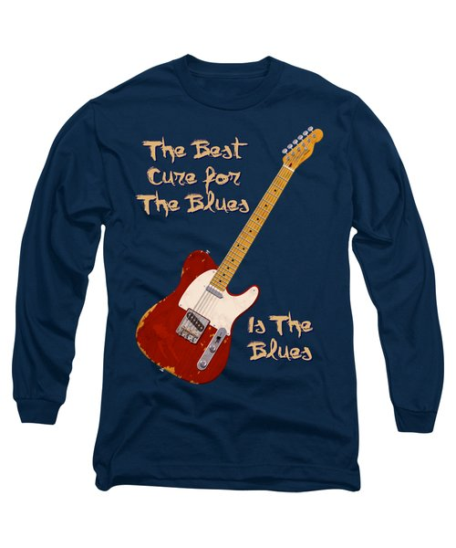 Red Tele Cure For Blues T Shirt Long Sleeve T-Shirt