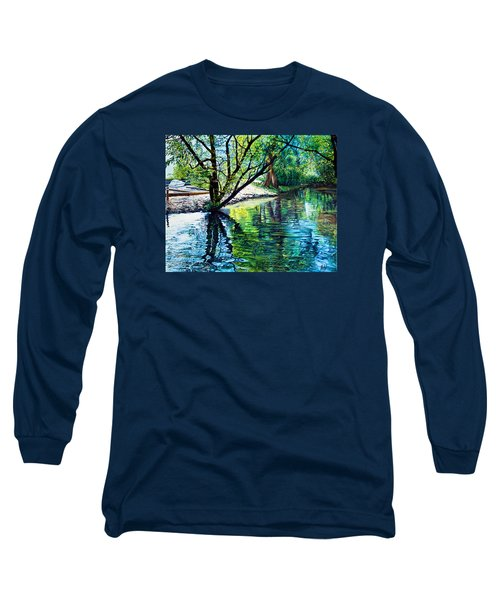 Trees Reflections Long Sleeve T-Shirt