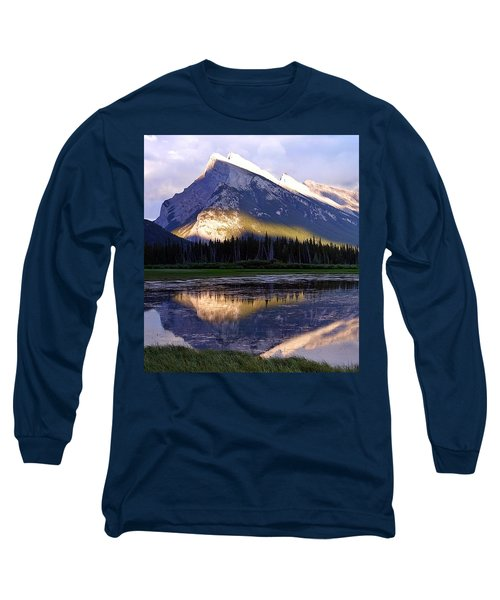 Mount Rundle Long Sleeve T-Shirt by Heather Vopni
