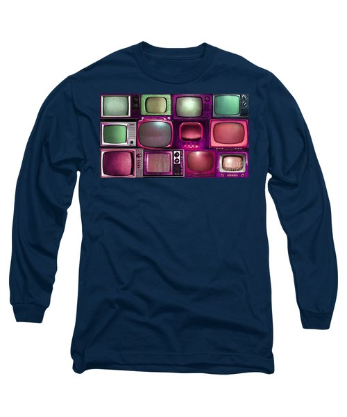 Retro Television Marathon 20150928long V2 M68 Long Sleeve T-Shirt